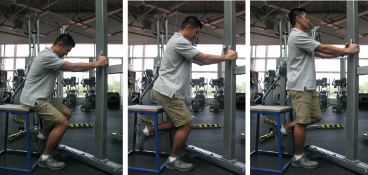 Aided squats