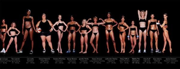 lady athletes body types